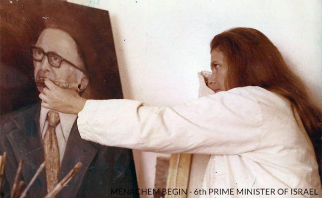 Portrait-Menachem_Begin-Daphna_Margolin